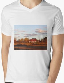 Rural living Mens V-Neck T-Shirt