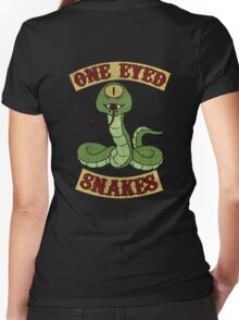 One Eyed Snakes Women's Fitted V-Neck T-Shirt