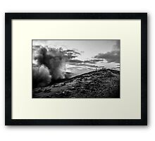 On the precipice Framed Print