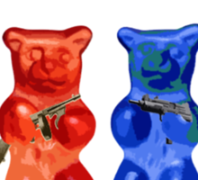 I Support the Right to Arm Bears, Gummy Bears Sticker