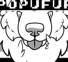 POPUFUR -grey- Sticker