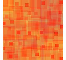 Sunny autumn, abstract art, squares Photographic Print