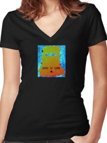 Ned Kelly Armour Women's Fitted V-Neck T-Shirt