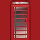 London Red Phone CallBox iPad Case / iPhone 5 Case / iPhone 4 Case  by CroDesign