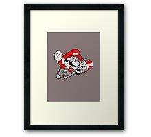Mario Flying Mushroom Framed Print