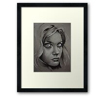 Charcoal experiment #2 Framed Print