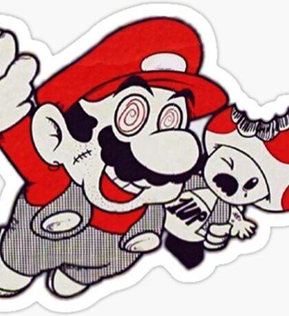 Mario Flying Mushroom Sticker