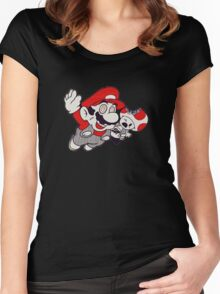 Mario Flying Mushroom Women's Fitted Scoop T-Shirt