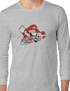 Mario Flying Mushroom Long Sleeve T-Shirt