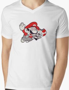 Mario Flying Mushroom Mens V-Neck T-Shirt