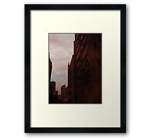 Tall Red Buildings Framed Print