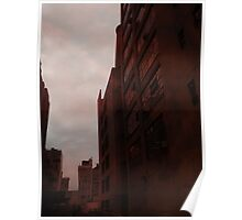 Tall Red Buildings Poster