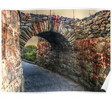 Old Stone Arch on the Cliff Walk, Newport, Rhode Island Poster