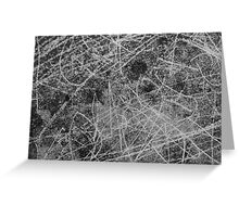 Scratch marks Greeting Card