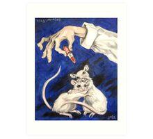 Lipstick and Lab Mice Art Print
