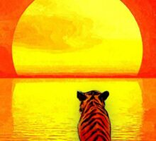 Calvin and Hobbes Sunset Sticker