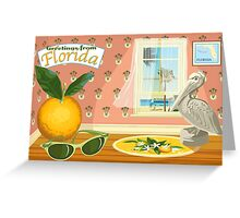 Florida Icons Greeting Card