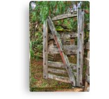 Old Farm Gate Canvas Print
