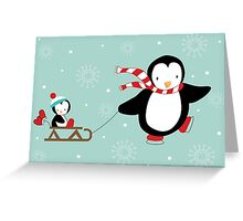 Sled RIde Greeting Card