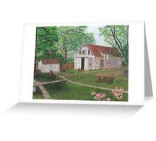 Waubeesee Lake Cottage Greeting Card