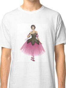 Pink Flower Ballerina in Romantic Tutu Classic T-Shirt