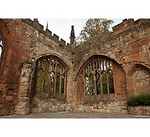 Ruins of St Michael's Cathedral Coventry Photographic Print
