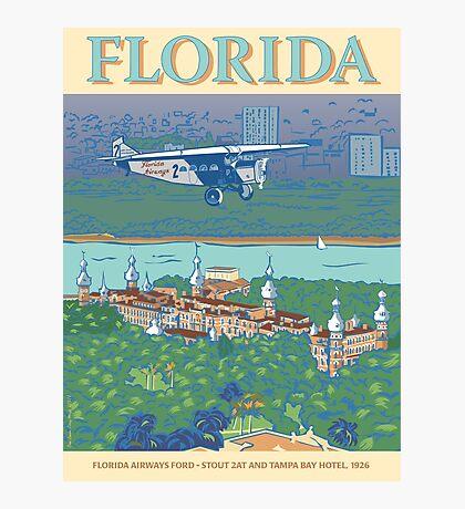 Florida - Tampa Bay and Florida Airways Ford 2AT Photographic Print