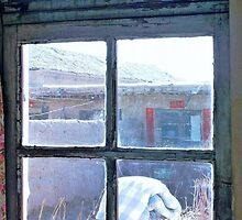 Looking Out the Kitchen Door in February © by Ethna Gillespie