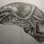 Alien - Drawing by Tam Edey