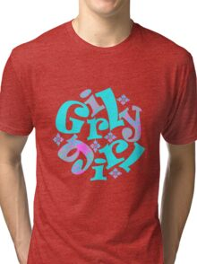 girly girl japanese print Tri-blend T-Shirt