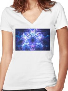 Nautical Ferns Women's Fitted V-Neck T-Shirt