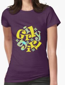 girly girl in yellow Womens Fitted T-Shirt