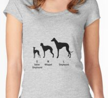 Greyhound type Women's Fitted Scoop T-Shirt