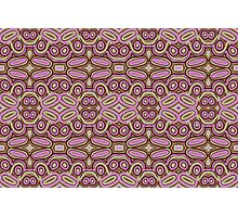 Pink ovals - abstract pattern Photographic Print