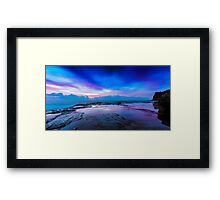 Reflections of Pink & Blue Framed Print