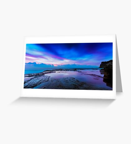 Reflections of Pink & Blue Greeting Card