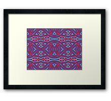 Red and blue abstract pattern Framed Print