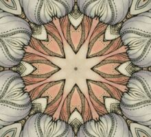 abstract flowers hand drawn and  kaleidoscope mandala Sticker