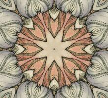 abstract flowers hand drawn and  kaleidoscope mandala Sticker