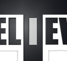 Believe Christianity Cross Symbol  Sticker