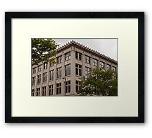 Apartment Buildings on 16th Street Framed Print
