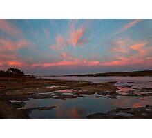 Pink Morning - Murchison River - Kalbarri  Photographic Print
