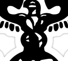U.N.S.C.D.F. Insignia (Black Logo) Sticker