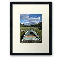 Happy Tent Framed Print