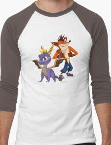 Orange & Purple Men's Baseball ¾ T-Shirt