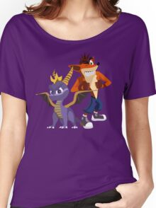 Orange & Purple Women's Relaxed Fit T-Shirt