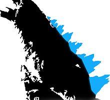 Godzilla Black and Blue by Noah Kantor