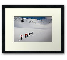 Mount Rainier Snowshoers Framed Print