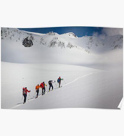 Mount Rainier Snowshoers Poster
