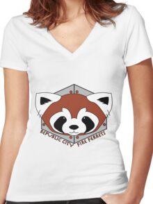 Fire Ferrets - Pro Bending League - Legend of Korra Women's Fitted V-Neck T-Shirt